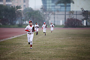 The Hanoi Capitals practice at the My Dinh Sports Complex under the watchful eye of coach Tom Treutler on January 23.