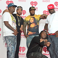 LAS VEGAS - SEP 20 : Rappers Tony Yayo, 50 Cent, Young Buck, Kidd Kidd and Lloyd Banks of G Unit attends the 2014 iHeartRadio Music Festival at the MGM Grand on September 19, 2014 in Las Vegas.