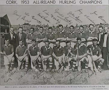 Back Row: A Scannell (Chairman), J Barrett ( Selector), D Hayes, J Twomey, D Creedon, L Dowling, G Murphy, J Lyons, G O'Riordan, P Collins (Selector), J Barry (Trainer). Front Row: P Barry, A O'Shaughnessy, W J Daly, J Hartnett, C Ring (capt), T O'Sullivan, V Twomey, M Fuohy.