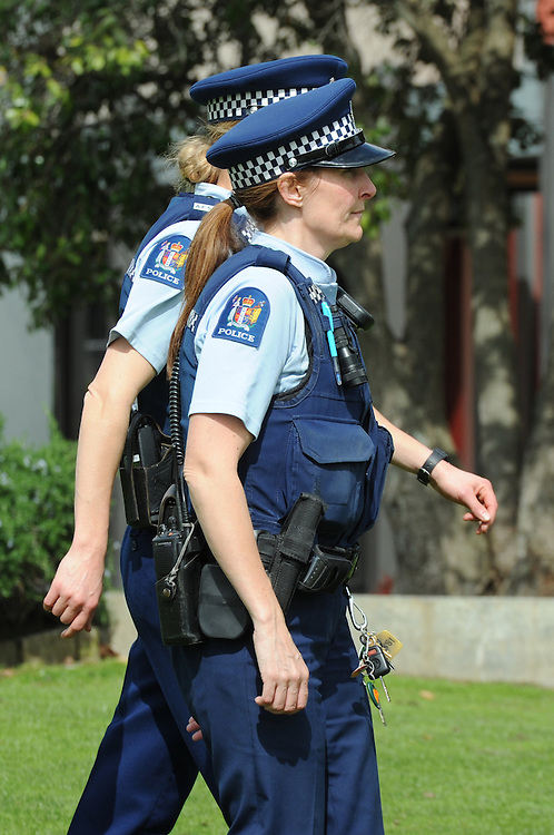 Police women, female police officers, Palmerston North, New Zealand, Thursday, September 18, 2014. Credit:SNPA / Ross Setford