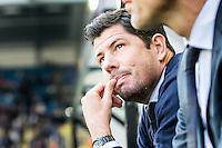 ARNHEM - Vitesse - FC Groningen , Voetbal , Eredivisie, Seizoen 2015/2016 , Gelredome , 03-10-2015 , FC Groningen trainer Erwin van der Looi is teleurgesteld an zit balend op de bank