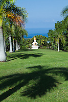 Paleaku Gardens Peace Sanctuary with ancient Hawaiian petroglyphs and Tibetan Sand Paintings, a Labyrinth as well as a  Medicine Garden.  Monuments and statuary create an extra special, peaceful atmosphere.