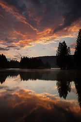 """Donner Lake Sunset 9"" - This sunset was photographed at the East end of Donner Lake, Truckee."