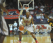 """Ole Miss guard Dundrecous Nelson (5) at C.M. """"Tad"""" Smith Coliseum in Oxford, Miss. on Saturday, December 4, 2010."""