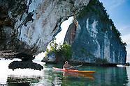 Kayaking in the Raja Ampat Archipelago, West Papua, Indonesia