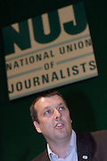 Jeremy Dear, General Secretary, speaking  at the NUJ Conference