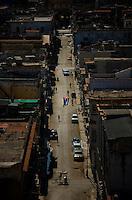 Overhead view of Street in Havana, Cuba