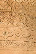 Detail of brickword of The Arg (Citadel) of Karim Khan, Shiraz, Iran