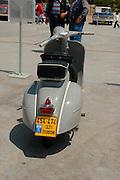 vintage Vespa motorbike, Tel Aviv fair grounds and convention centre, Israel,