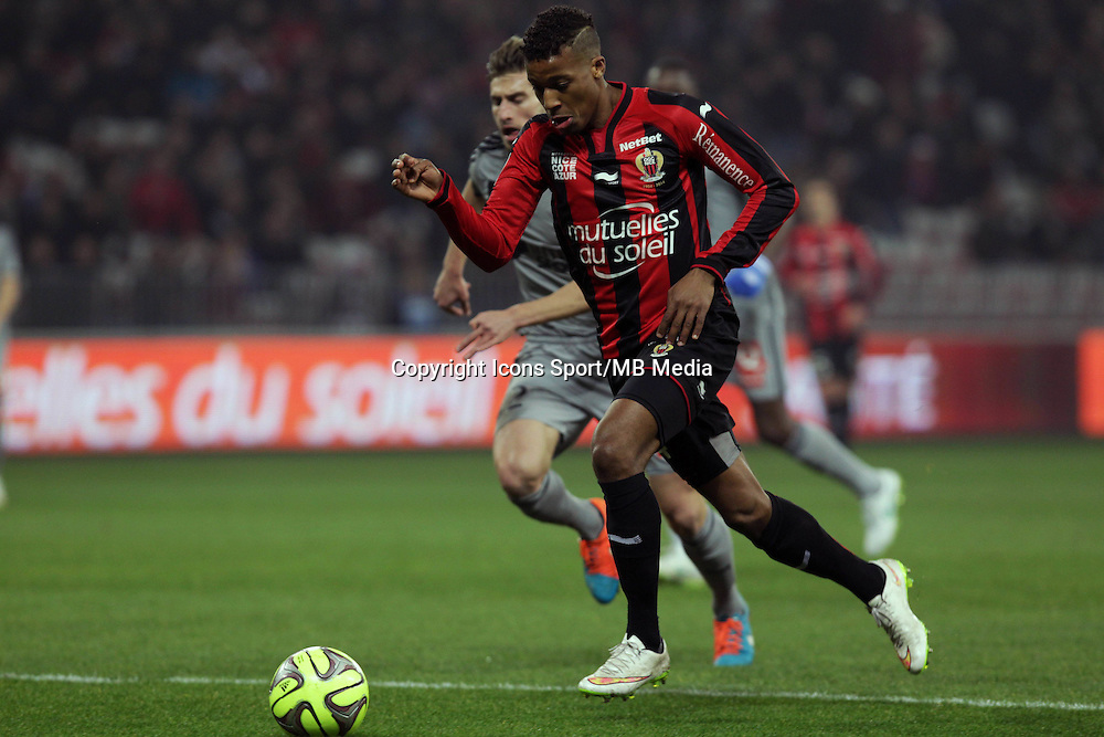 Baptiste ALOE / Alassane PLEA  - 23.01.2015 - Nice / Marseille - 22eme journee de Ligue 1<br />