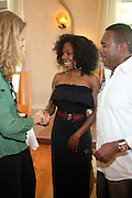 24 June 2010- Miami Beach, Florida- l to r: Andrea Kelly and Michael Baisden at the The 2010 American Black Film Festival Founder's Brunch held at Emeril's on June 24, 2010. Photo Credit: Terrence Jennings/Sipa