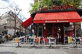 Paris Attacks, Empty Cafe and Resataurants