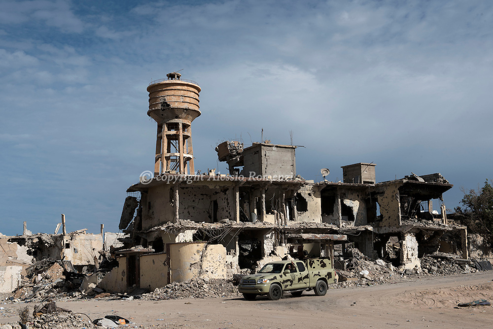 Libya, Sirte: Destruction in central Sirte on November 25, 2016.  Alessio Romenzi