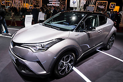 New Toyota C-HR electric Hybrid SUV at world premiere at Paris Motor Show 2016
