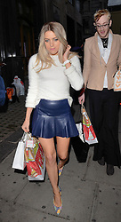 Olivia Cox and Lewis Duncan Weedon attend Cherry Edit Launch Party at Cafe Kuizen, Hanover Square, London on Wednesday 1 October 2014