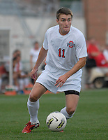 Ohio State midfielder Austin McAnena (11) looks for a teammate as OSU takes on Binghamton in the first half of an NCAA men's college soccer game in Columbus, Ohio on Sunday, Sept. 11, 2011, at Jesse Owens Memorial Stadium.