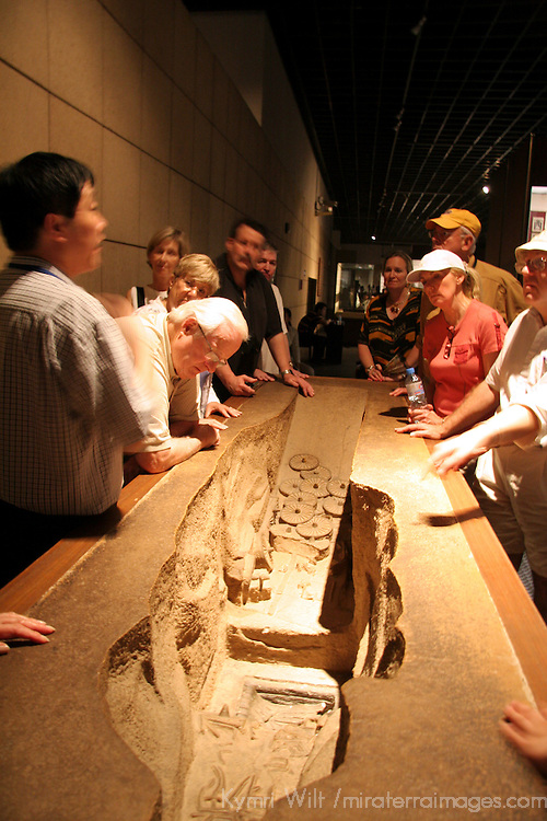 Asia, China, Shaanxi, Xian. Exhibit at the Shaanxi History Museum.
