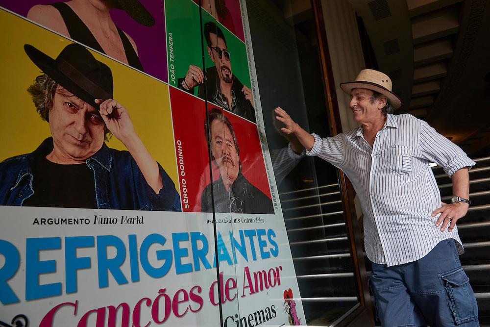 Lisboa, 22/08/2016 - O m&uacute;sico Jorge Palma fotografado no cinema S&atilde;o Jorge. Em entrevista ao JN sobre a sua participa&ccedil;&atilde;o no filme &quot;Refrigerantes e can&ccedil;&otilde;es de amor&quot; de Lu&iacute;s Galv&atilde;o Teles.<br /> (Paulo Alexandrino / Global Imagens)