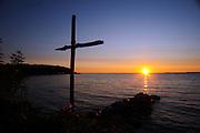 The sun rises over Lake Michigan on Chambers Island in Door County. (Sam Lucero photo)