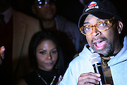 "l to r: Lil Kim and Spike Lee at The Russell Simmons and Spike Lee  co-hosted ""I AM C.H.A.N.G.E!"" Get out the Vote Party presented by The Source Magazine and The HipHop Summit Action Network held at Home on October 30, 2008 in New York City"