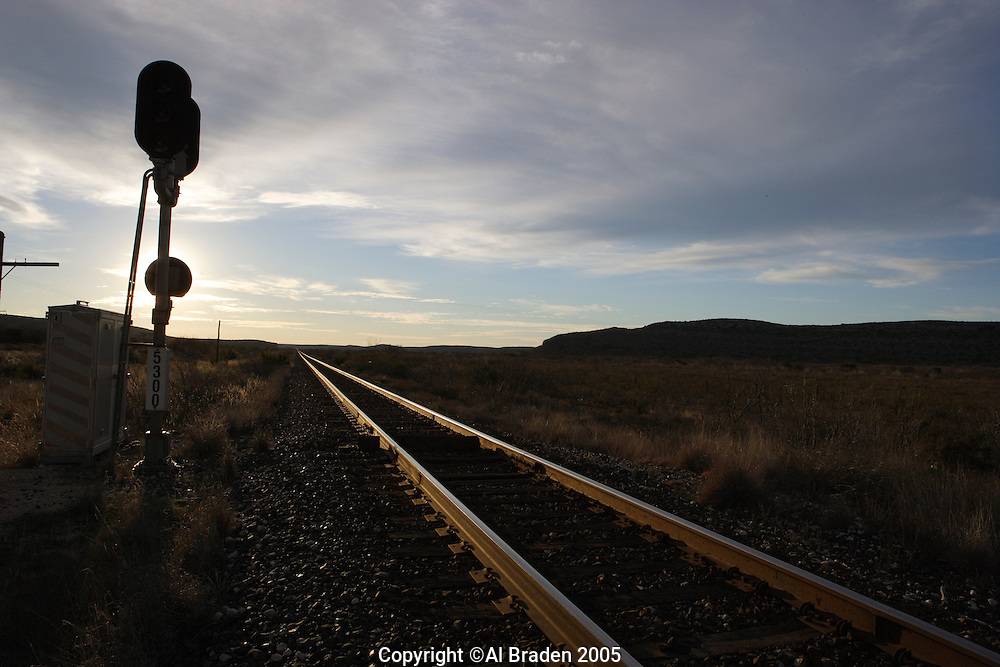 Railroads out in West Texas, Terrell County