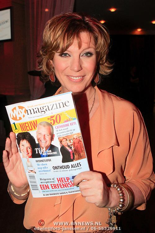 NLD/Hilversum/20130305 - Lancering Max Magazine, Myrna Goossen met het magazine