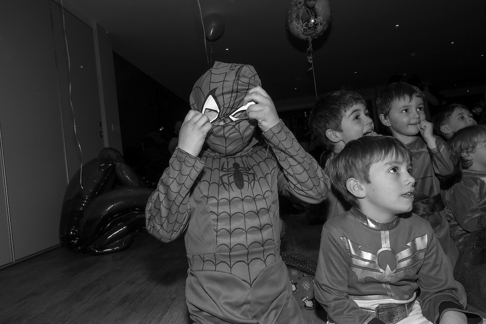 Arthur adjusts his spiderman mask during a fancy dress party at the tennis club in Berkhamsted, England Saturday, Feb. 14, 2015 (Elizabeth Dalziel) #thesecretlifeofmothers #bringinguptheboys #dailylife