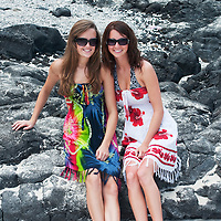 Two young women at the beach in hawaii