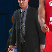 Grand Rapids Drive Head Coach REX WALTERS walks the sidelines in the second half of a NBA D-league regular season basketball game between the Delaware 87ers and the Grand Rapids Drive (Detroit Pistons) Tuesday. Nov. 29, 2016 at The Bob Carpenter Sports Convocation Center in Newark, DEL.