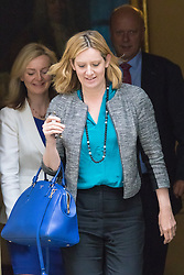 Downing Street, London, June 2nd 2015. Amber Rudd, Secretary of State for Energy and Climate Change, followed by Elizabeth Truss, Secretary of State for Environment, Food and Rural Affairs and Leader of the House Chris Grayling, leaves 10 Downing Street following the weekly meeting of the Cabinet.