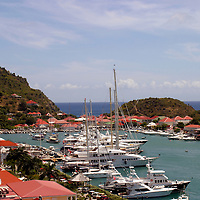 Beautiful Gustavia Harbor on St. Barts island in the Caribbean, a popular cruise destination.