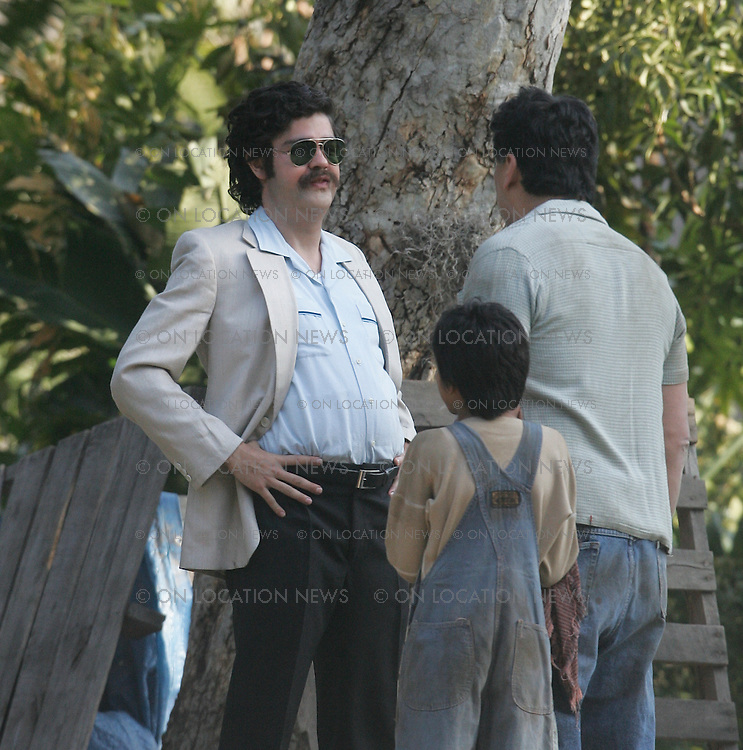 Arcadia, CA. March 8, 2007 Adrian Grenier as Vincent Chase as Pablo Escobar on the set of HBO's Entourage. In the plot for Entourage this is a scene being filmed for Vincent Chases next movie called Medellín, the story of the rise and fall of drug kingpin Pablo Escobar. EXCLUSIVE Photo By Eric Ford 1/818-613-3955 info@onlocationnews.com