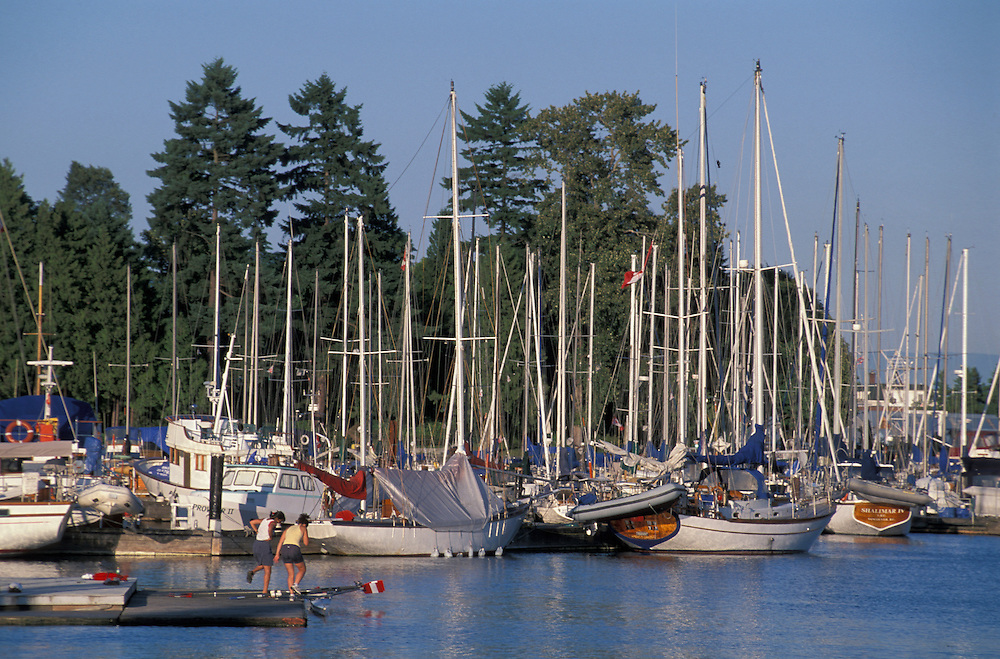 Yachts, Stanley Park, Vancouver, British Columbia, Canada