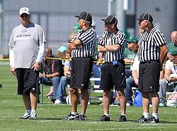 Jun 7, 2012; Florham Park, NJ, USA; New York Jets head coach Rex Ryan during the New York Jets organized team activities at the Atlantic Health Training Center.