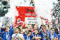GENT - KAA Gent - Standard Luik , Ghelamco Arena , Voetbal , Jupiler Pro League Play-offs 1 , seizoen 2014/2105 , 21-05-2015 , KAA Gent is kampioen van de belgische Jupiler Pro League