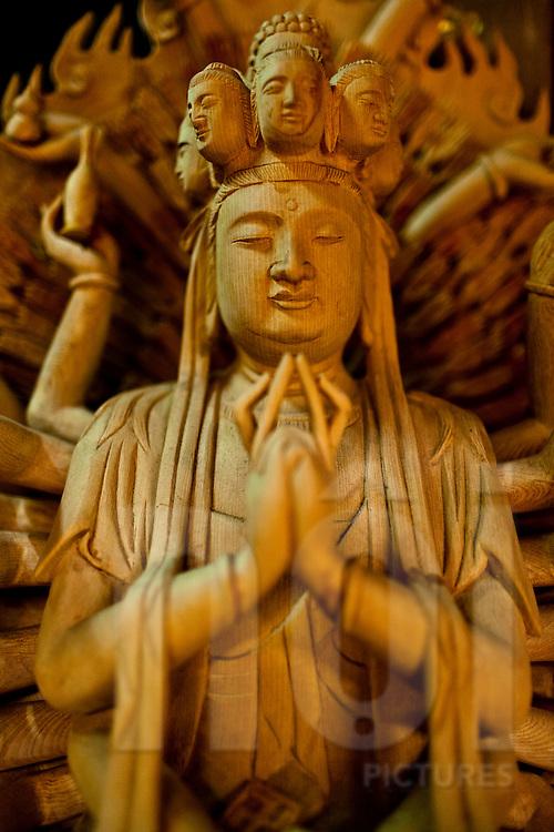 Delicate wooden statue, Vietnam, Southeast Asia