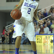 Delaware Guard Courtni Green (2) in action in the second half of a regular season NCAA basketball game against George Mason Thursday, Jan 10, 2013 at the Bob Carpenter Center in Newark Delaware...Delaware (10-3; 1-0) defeated George Mason (5-8; 0-2) 62-27..Delaware is riding a four-game winning streak after defeating George Mason, St. John's in over-time on Jan. 2, Villanova (Dec. 29) and Duquesne (Dec. 30) to capture the 2012 Dartmouth Blue Sky Classic title.