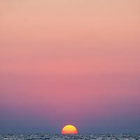 The sun sets over St. Pete Beach.