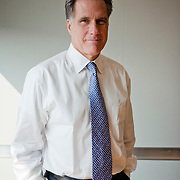 Former Massachusetts Governor and Republican presidential candidate Mitt Romney speaks during an interview in Washington DC, August 28, 2007.