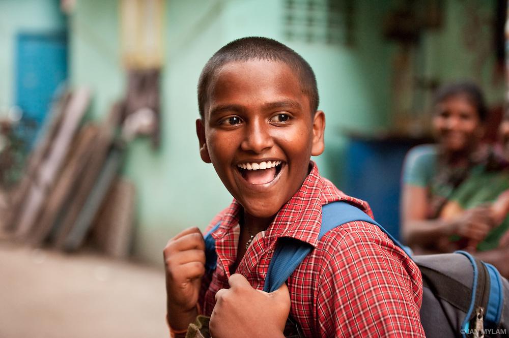 Boy in a Red Shirt - Chennai, India