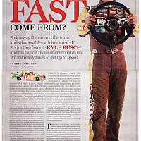 NASCAR Driver Kyle Busch photographed for Sports Illustrated