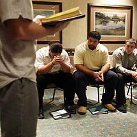 Oregon Ducks football team in Oklahoma for game against against the Sooners..Players, coaches and family gather for Chapel on Saturday morning..Photos © Todd Bigelow/Aurora