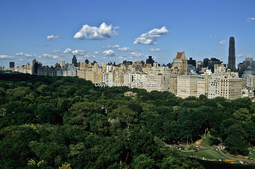 New York. elevated view on Central park skyline  /  Central park panorama  New York - Etats Unis