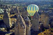 Ballooning over the fairy landscape of Cappadocia, Turkey