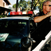 A documentary project from 2001 about the police in Cedar Rapids, Iowa, USA.