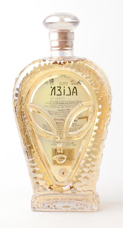Alien Tequila anejo -- Image originally appeared in the Tequila Matchmaker: http://tequilamatchmaker.com