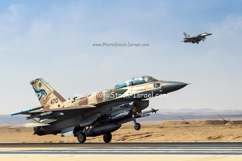 Israeli Air Force (IAF) F-16I Fighter jet at takeoff