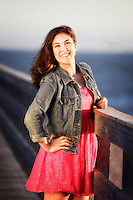 17 July 2013:  Delanie Wright (17) High School Senior Photo Session. Class 2014 at the Seal Beach Pier, California.
