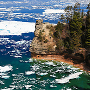 &quot;Miner's Castle on Ice&quot; 2<br /> <br /> Scenic Miner's Castle in Pictured Rocks National Lake Shore during May of 2014!!<br /> <br /> The Great Lakes by Rachel Cohen