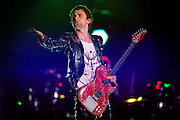 Muse perform at Wembley Stadium on September 10, 2010 in London, England.